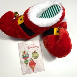 Ugly slippers Elf/Santa for the holiday party